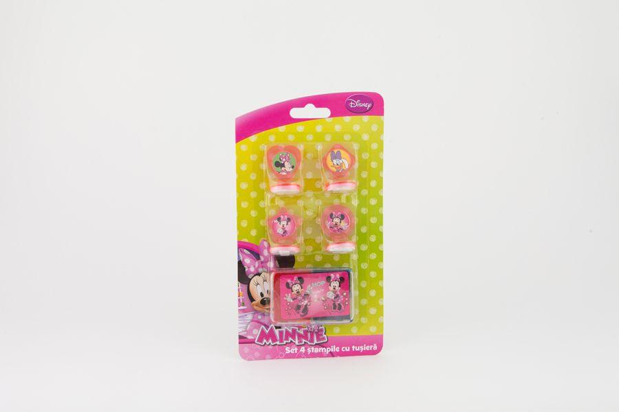 Stampile 4buc/set+tusiera,Minnie