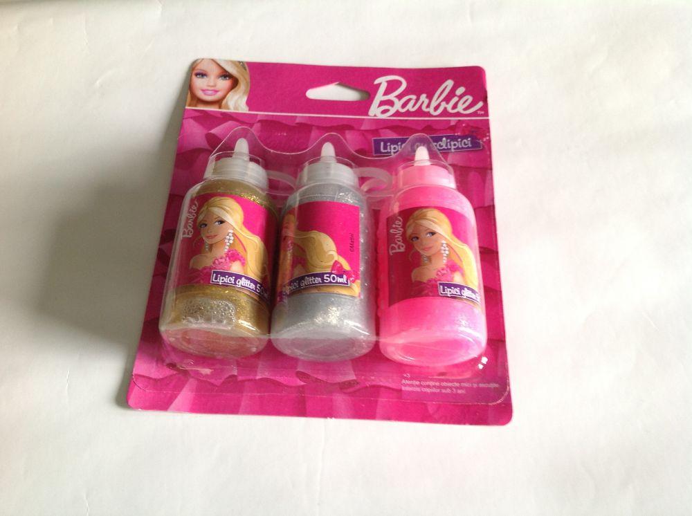 Lipici cu glitter,3/set, Barbie