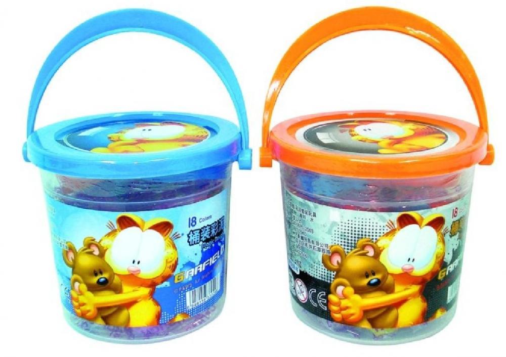 Plastilina Garfield, 18 culori/galetusa