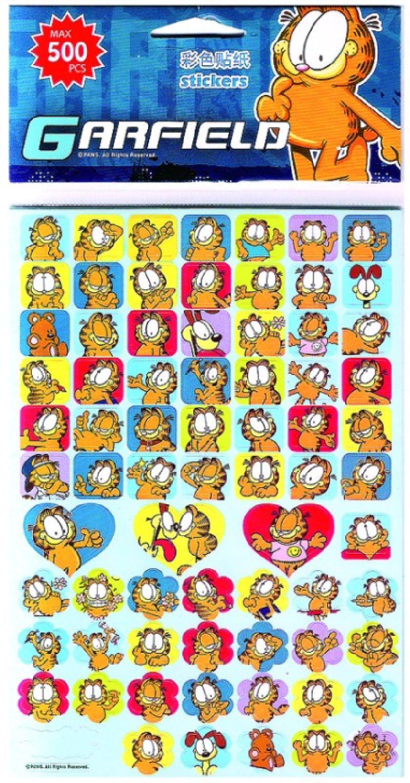 Stickere Garfield, in relief