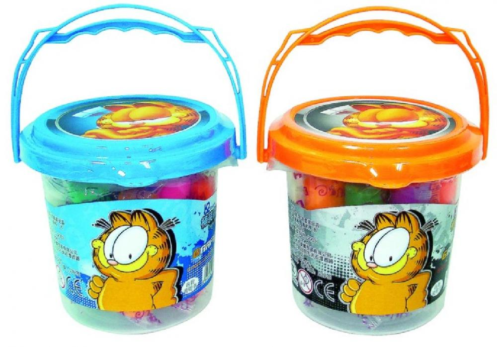 Plastilina Garfield, 12 culori/galetusa