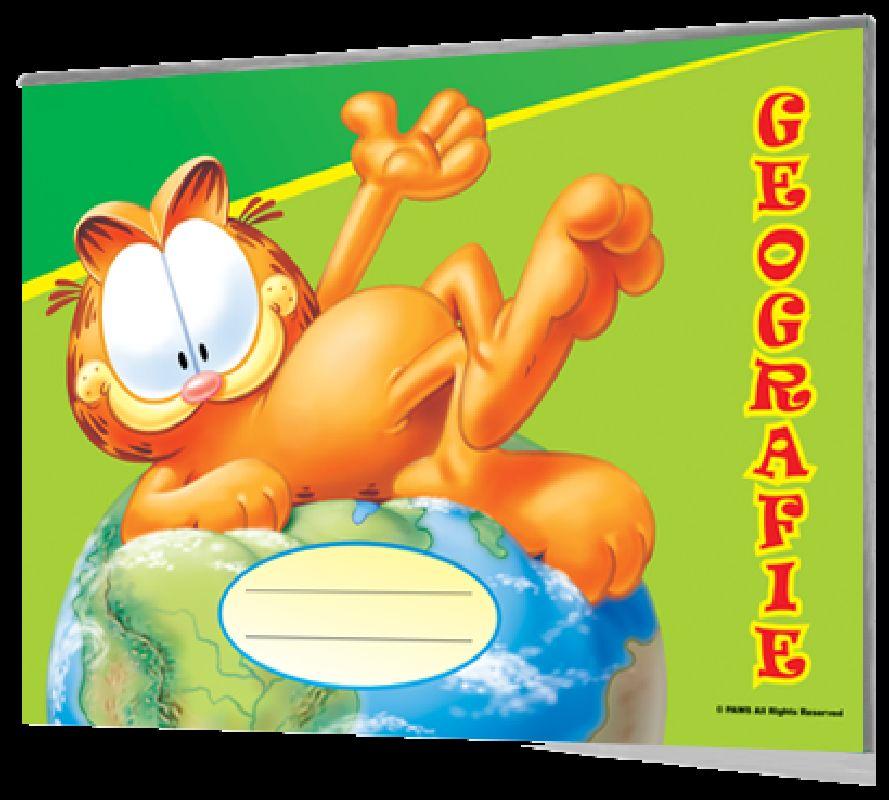 Caiet geografie Garfield,24 file
