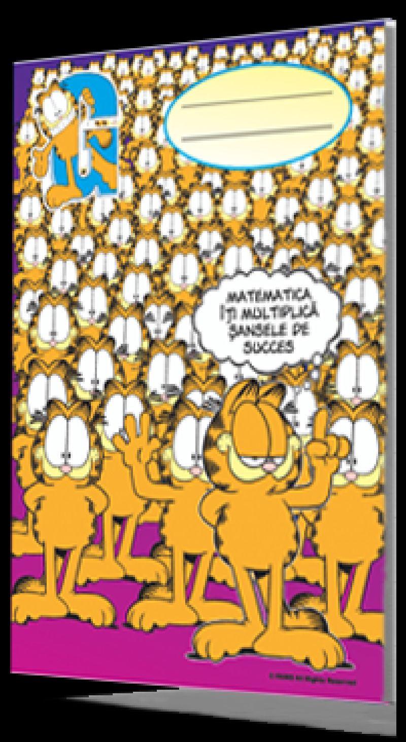 Caiet A5,48f matematica, Garfield