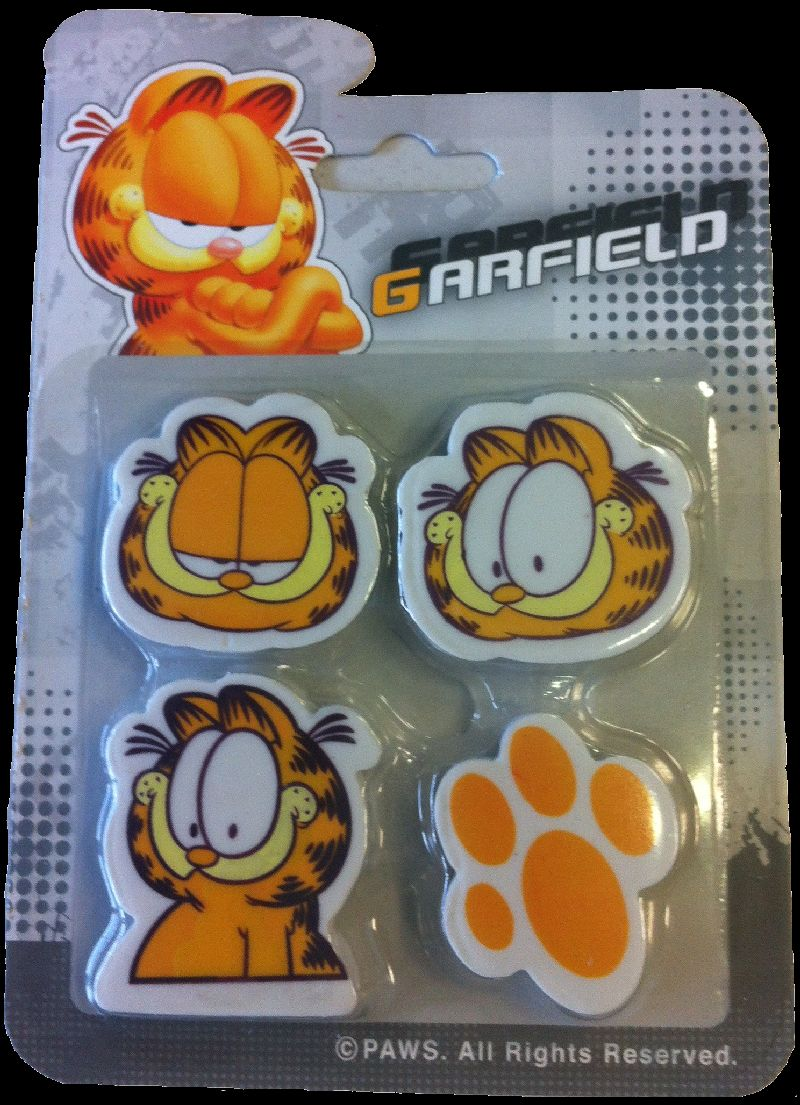 Radiera Garfield, 4buc/set