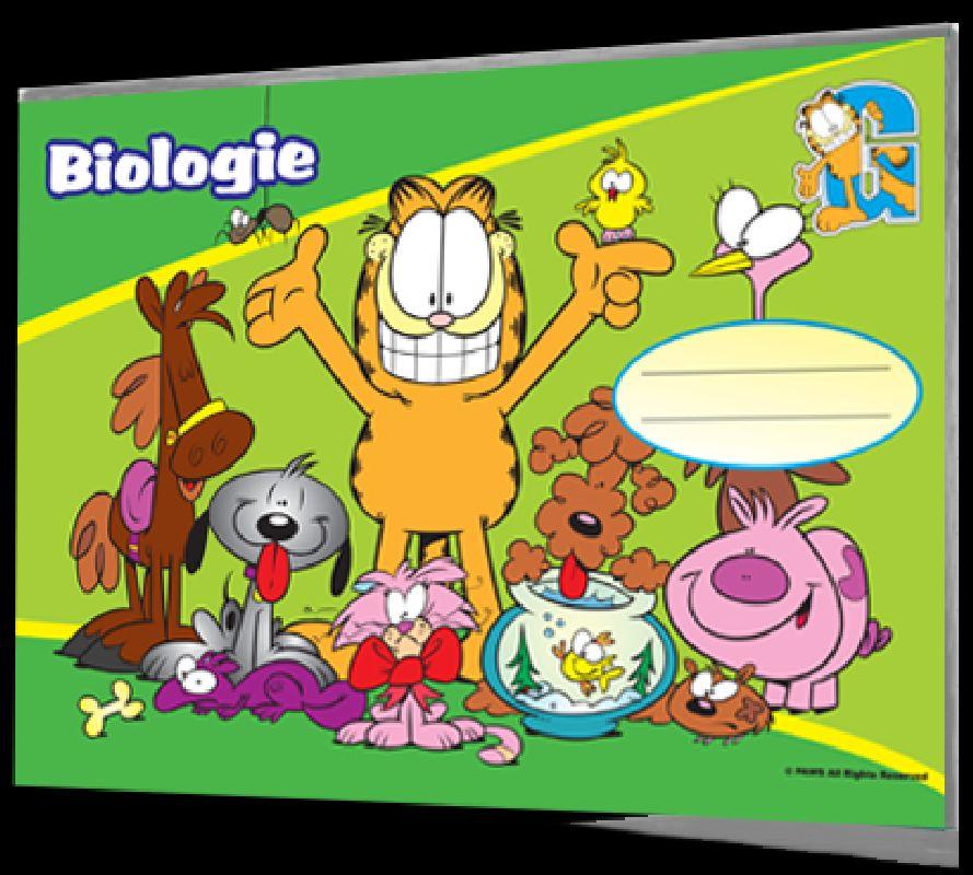 Caiet biologie Garfield,24 file