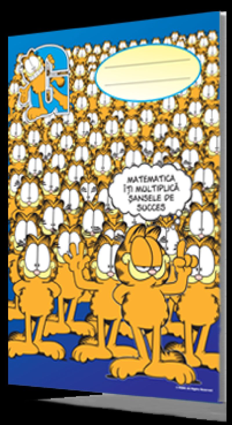 Caiet A4,60f matematica, Garfield