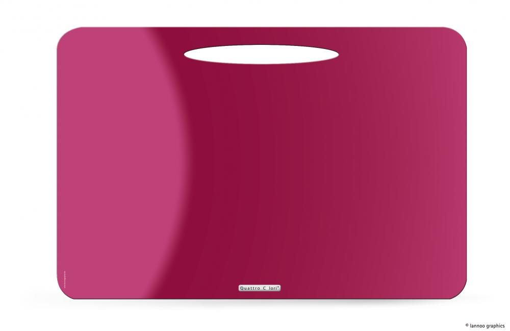 zzMapa birou QuattroColori,PP,roz