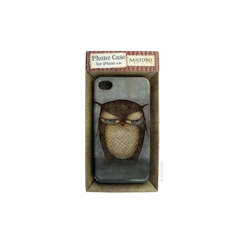 Carcasa iPhone 4/4s,Grumpy Owl