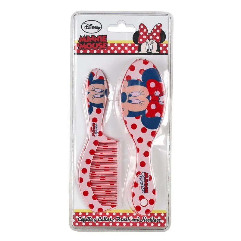 Set pieptene+perie par,Minnie