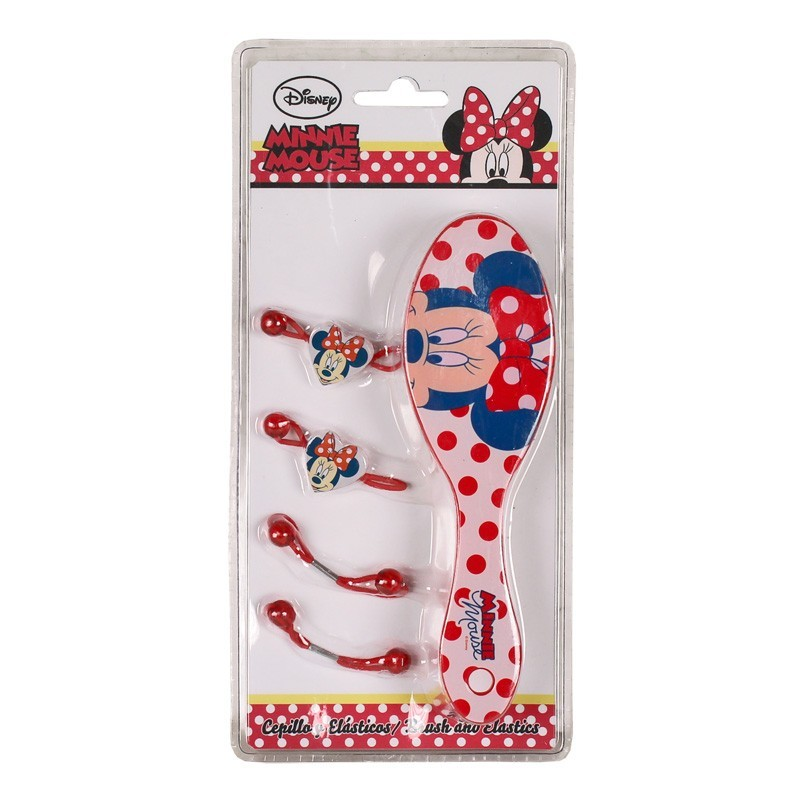 Set perie+4elastice par, Minnie