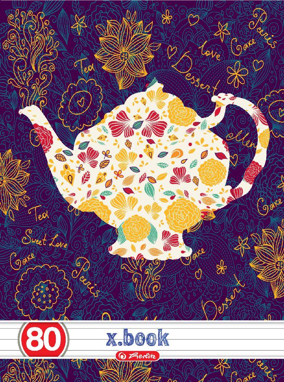 Caiet A5,80file,Tea Time,dictando
