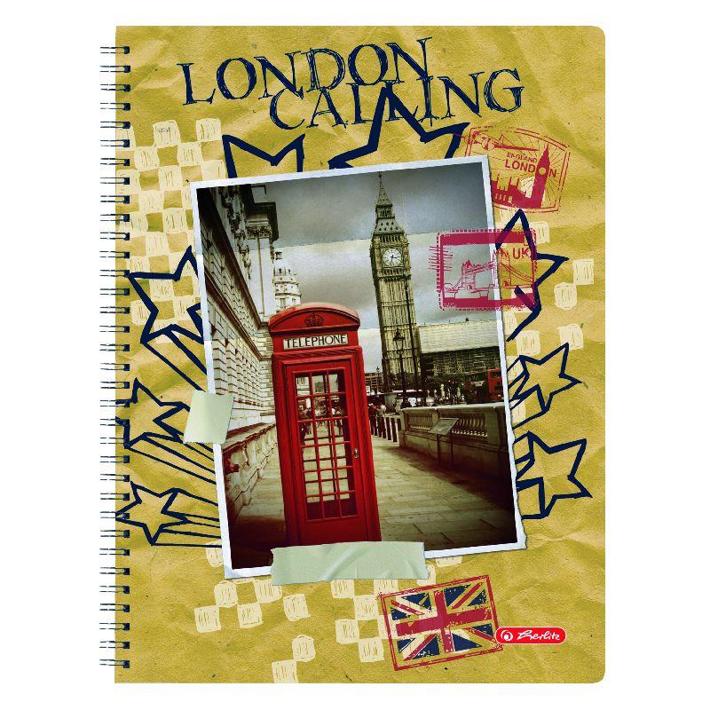 Caiet cu spira A4,70file,Londra,matematica