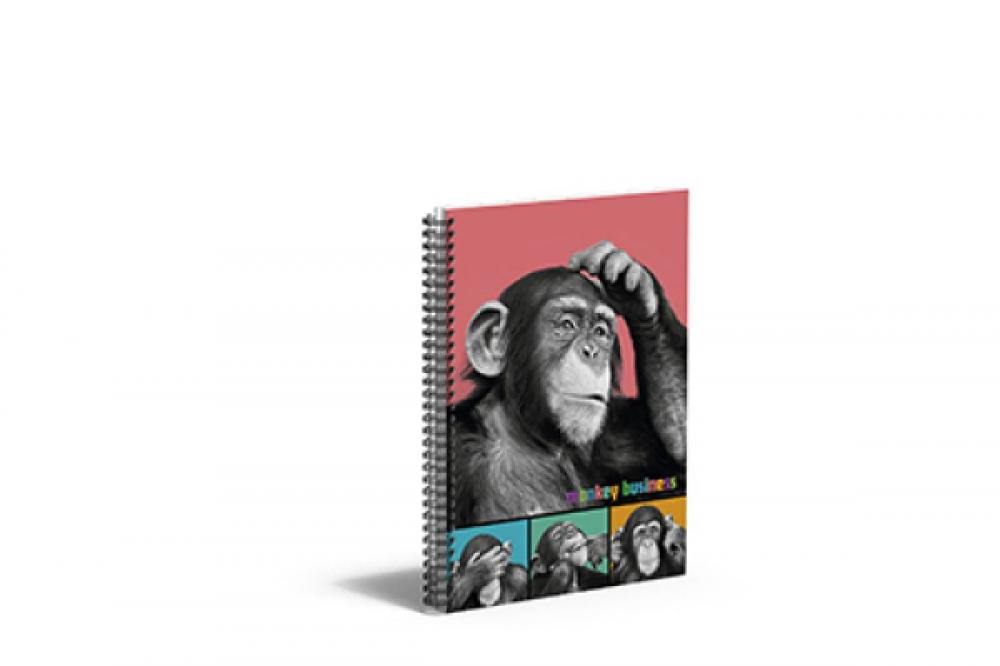 zzCaiet cu spira A5 Monkey Business,80 file