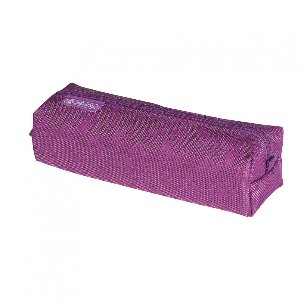 Pouch patrat,Floral Purple