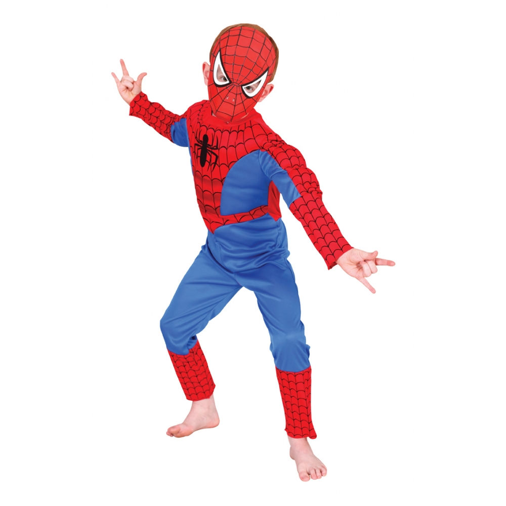Costum cu cagula Spiderman M