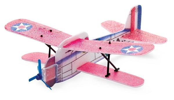 Avion biplan polistiren extrudat
