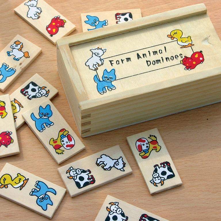 Mini domino lemn Ferma Animale