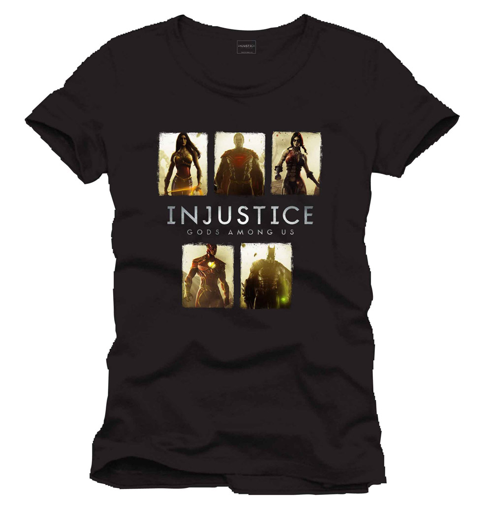 Injustice T-Shirt Card black Size L