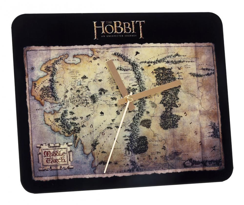 Hobbit Glass Wall Clock The Treasure Map