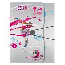 Mapa cu elastic A4,PP,Move It,roz