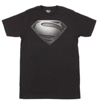 Superman T-Shirt Silver Logo Size M