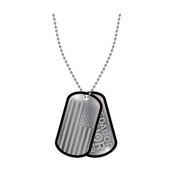 MOH Warfighter Dog Tags with ball chain