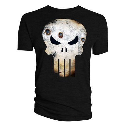 T-Shirt Punish Skull Log Battle Damage L