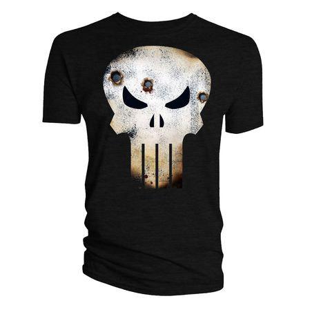 T-Shirt Punish Skull Log Battle Damage L