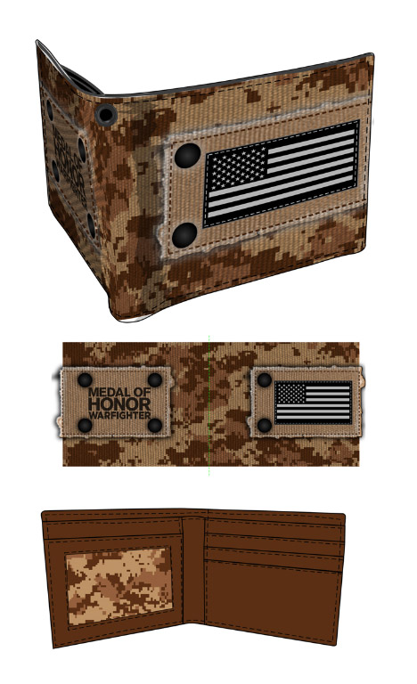 MOH Warfighter Wallet Warfigh Patch Flag