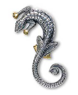 Lord of the Rings Brooch Saruman Silver