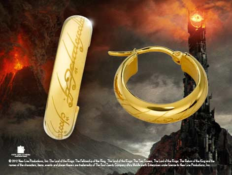 LOTR Earrings The One Ring (gold)