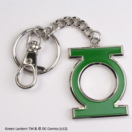Green Lantern Metal Key Ring Green Logo