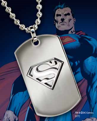 Superman Stainless Steel Dog Tag Logo