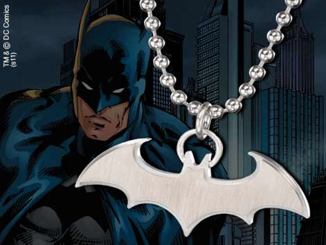 Batman Steel Pendant with Chain Logo