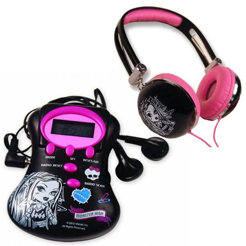 zzSet casti cu miniradio Monster High