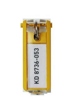 Suport eticheta cheie galben 6 buc/set
