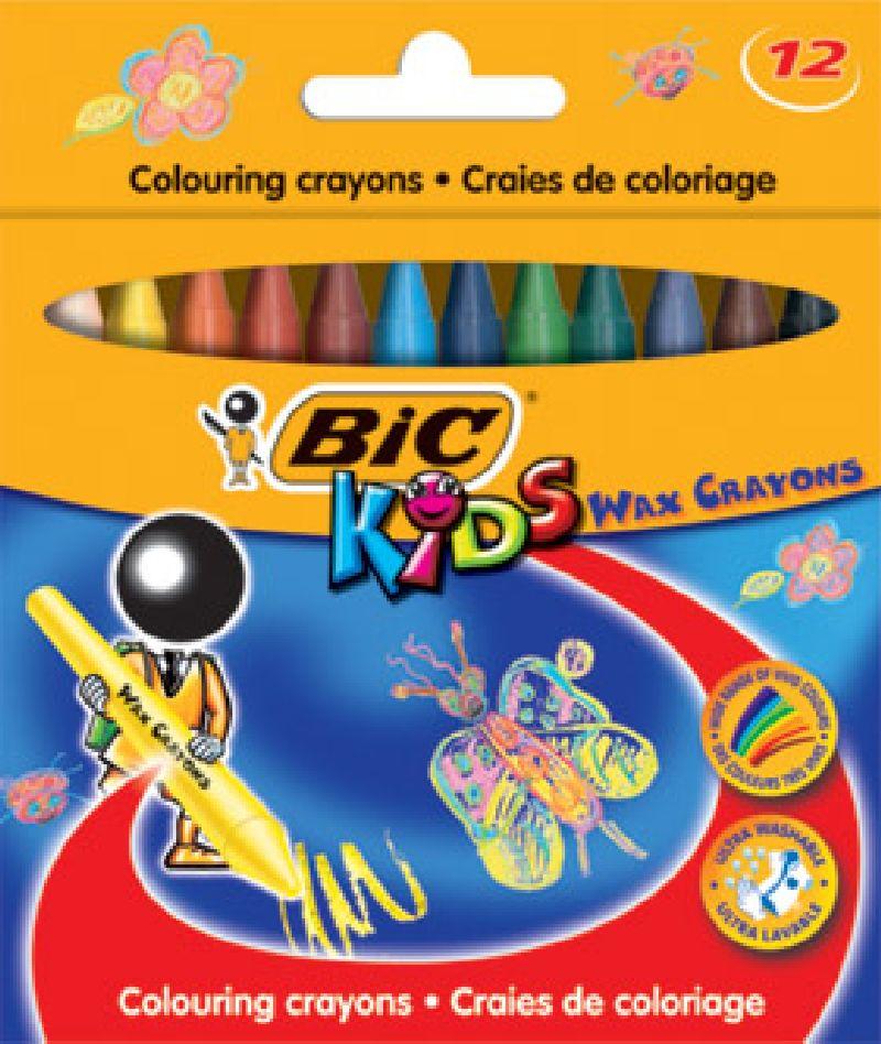 Creioane cerate,12b/set,Bic Wax Crayons