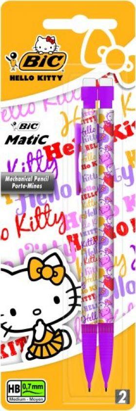 Creion mecanic Bic Hello Kitty,0.7mm,2buc
