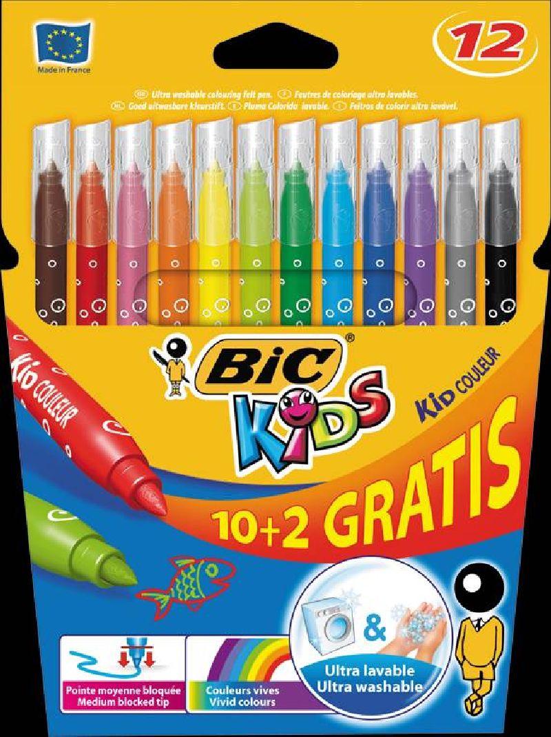 Markere pt copii,10+2b/s,Bic...