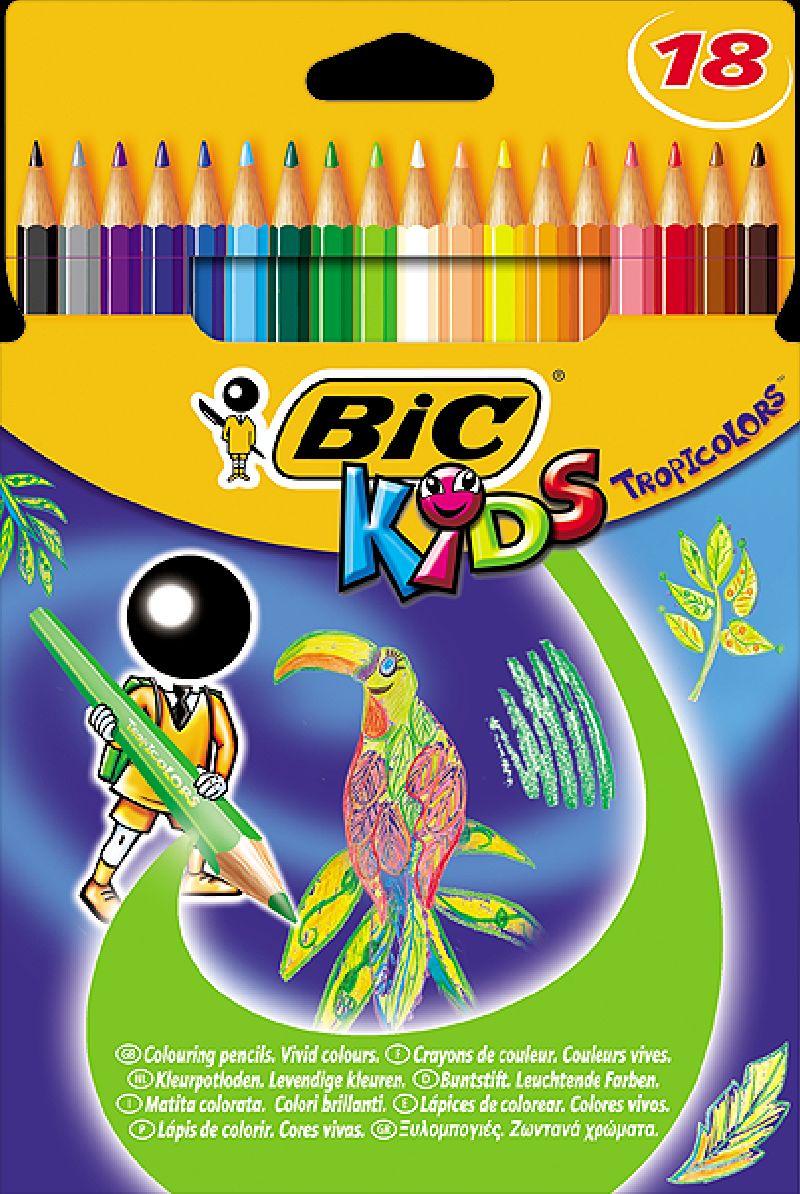 Creioane colorate,18b/s,Bic Tropicolors2