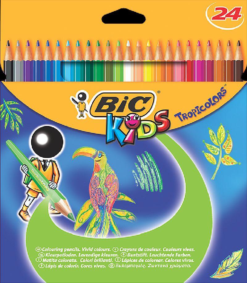 Creioane colorate,24b/s,Bic Tropicolors2