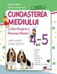 CUNOASTEREA MEDIULUI CU RITA GARGARITA SI GREIERASUL ALBASTRU  ? (CAIET) GRUPA MIJLOCIE 4-5 ANI