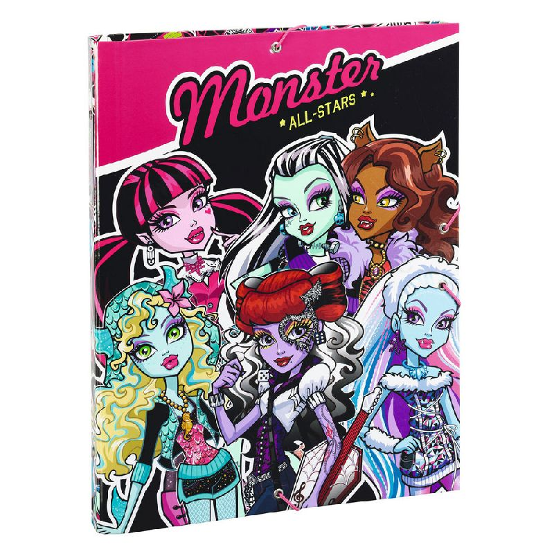 zzMapa A4,cu elastic,MonsterHigh