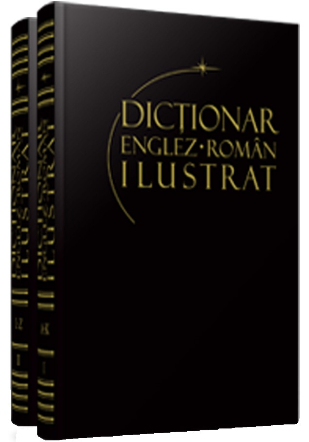 PACHET DICTIONAR ENGLEZ-ROMAN ILUSTRAT 2 VOLUME