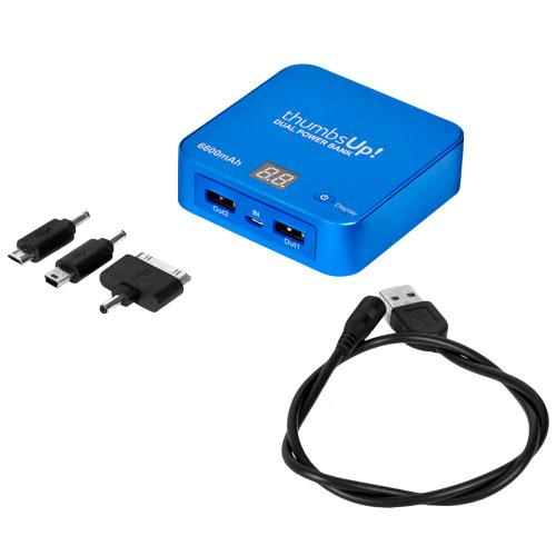 Dual Power Bank Blue