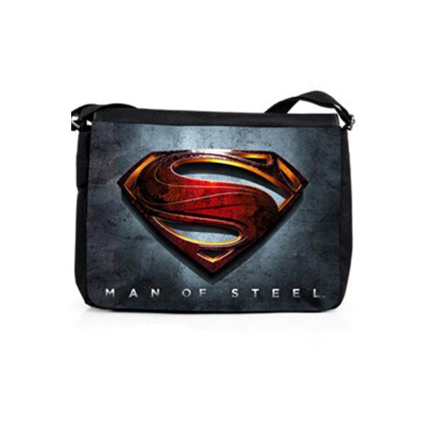 Man Of Steel Shoulder Bag Logo grey