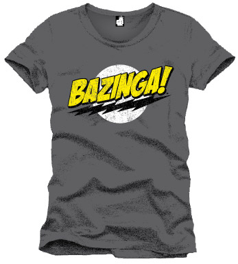 The Big Bang Theory T-Shirt Bazinga grey Size L