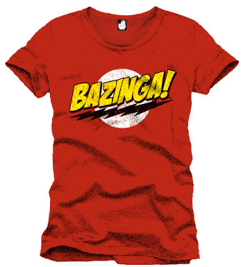 Big Bang Theory T-Shirt Bazinga red Size M