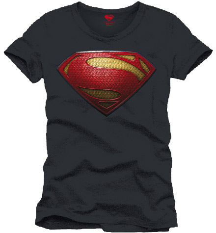 Man of Steel T-Shirt Logo anthracite Size L