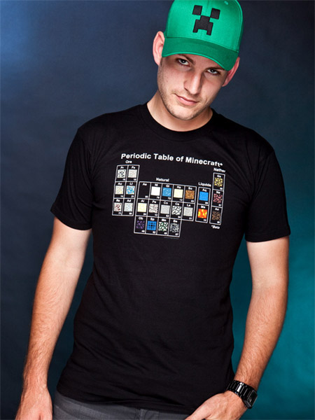 Minecraft T-Shirt Periodic Table Size S